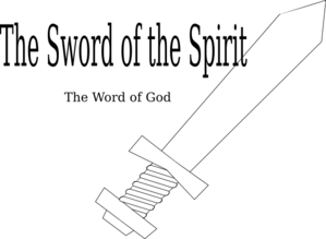 Sword Of The Spirit Template Clip Art