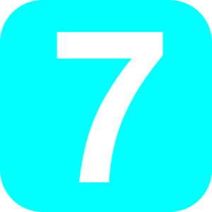 Number 7 Light-blue Clip Art