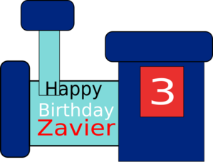 Zavier Birthday Clip Art