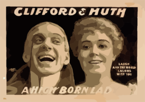 Clifford & Huth, A High Born Lady Laugh And The World Laughs With You. Clip Art