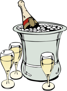 Champagne On Ice Clip Art