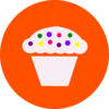 Orange Cuppycake Clip Art