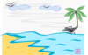 Palm Tree Tropical Setting No Words Clip Art