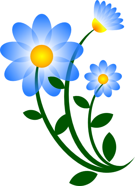 blue flower clip art at clker com vector clip art online royalty rh clker com flowers clip art images flowers clip art border