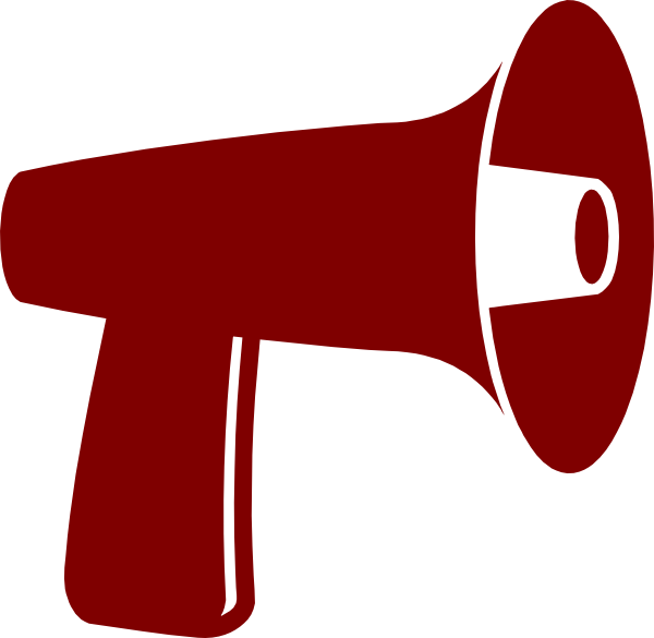 Red Megaphone Clip Art at Clker.com - vector clip art ...