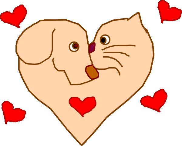 Dog And Cat Heart Clip Art at Clker.com - vector clip art ...