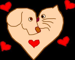 dog and cat heart clip art at clker com vector clip art online rh clker com cat and dog christmas clipart cute cat and dog clipart