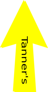 Yellow Arrow Tanner Clip Art
