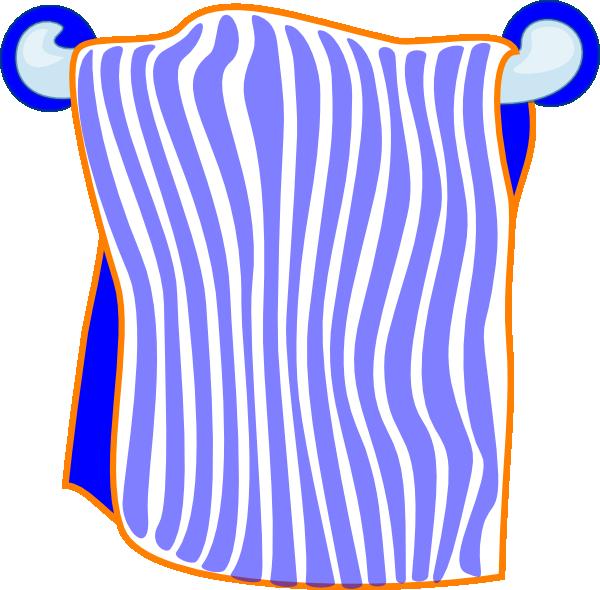 Clip Art Beach Blanket: Bath Towel Blue Clip Art At Clker.com