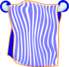 Bath Towel Blue Clip Art