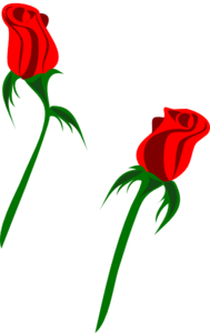 Red Rose Buds Clip Art