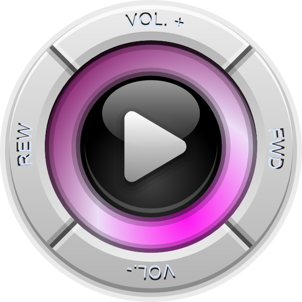 Volume Control Button : Control buttons play volume fwd rwd clip art at clker