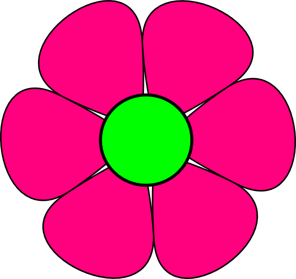 Pink Flower 3 Clip Art At Vector Clip Art Online Royalty Free Public Domain: flower clipart