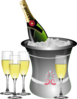 Champagne New Year\ S Eve Celebration Clip Art