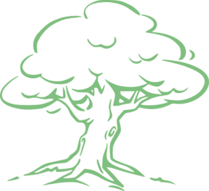 Light Green Oak Tree Clip Art