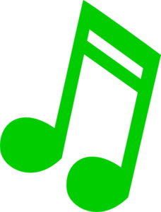 Music Note Green Clip Art
