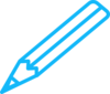 Pencil Blue White Clip Art
