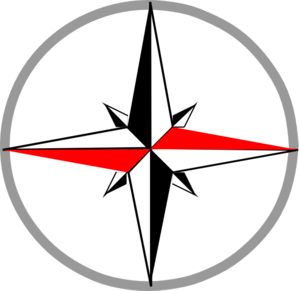 Red Grey Compass 2 Clip Art