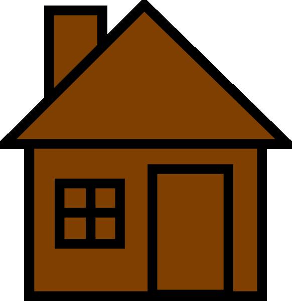 Line Art House Images : Brownhouse clip art at clker vector online