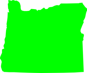 Green Oregon Clip Art
