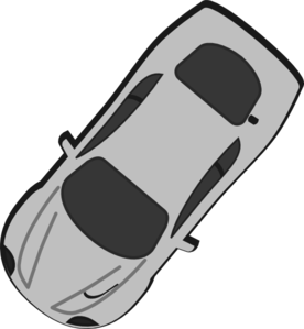 Gray Car - Top View - 230 Clip Art