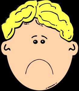 sad boy clip art at clker com vector clip art online royalty rh clker com sad face clipart black and white sad face clipart images