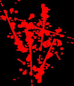 red paint splat clip art at clker - vector clip art online