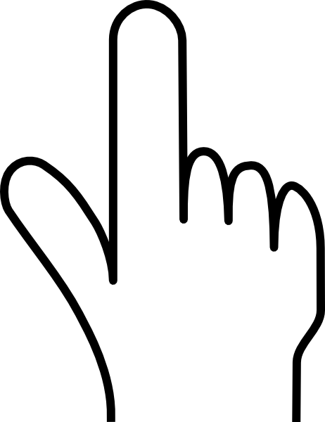 Pointing Finger Without Shade Clip Art at Clker.com - vector clip ...