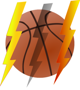 Lightning Bolt Basketball Clip Art