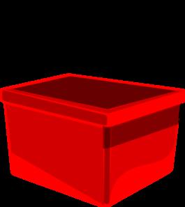 Red Bin Clip Art