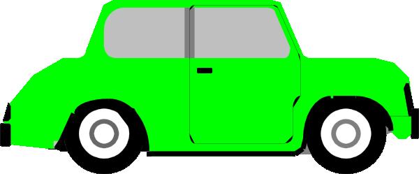 Bright Green Car Clip Art