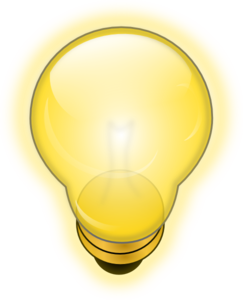 Glowing Light Bulb Clip Art