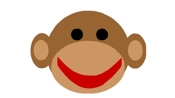 clipart monkey face - photo #35