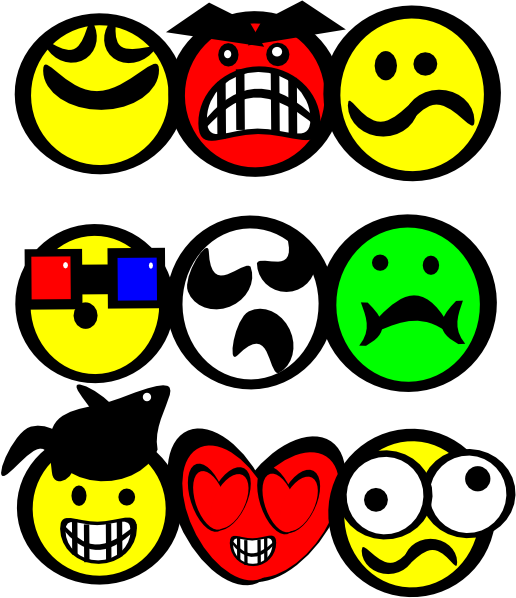 smiley face cartoon clip art. Cartoon Smiley Faces clip art