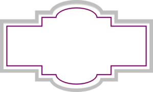 Box Label - Plum Silver Clip Art