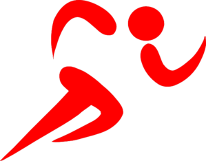 Runner Red Clip Art