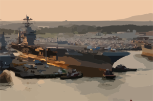 Uss Harry S. Truman (cvn 75) Pulls Away From Pier 14 Naval Station Norfolk, To Begin Her Transit To The Norfolk Navy Shipyard (nnsy) For A Planned Incremental Availability (pia) Clip Art