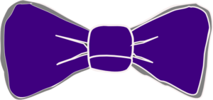 Bow Tie Purple Clip Art