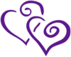 Purple Intertwined Hearts Clip Art