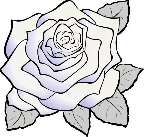 White Rose Gray Clip Art at Clker.com - vector clip art online ...