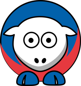 Sheep New York Rangers Team Colors Clip Art