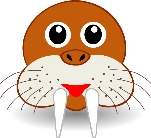 Cartoon Walrus Face Clip Art at Clker.com - vector clip ...
