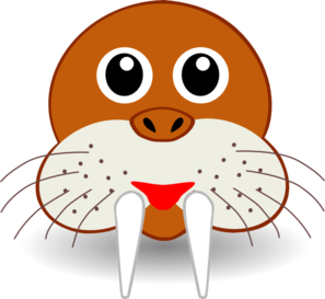 Cartoon Walrus Face Clip Art