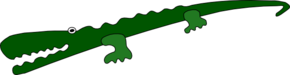 Alligator Cartoon Clip Art