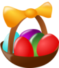 Basket Of Colored Easter Eggs Clip Art