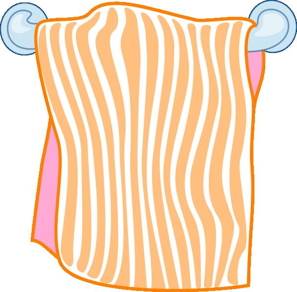 Towel Clip Art: Bath Towel Orange Clip Art At Clker.com