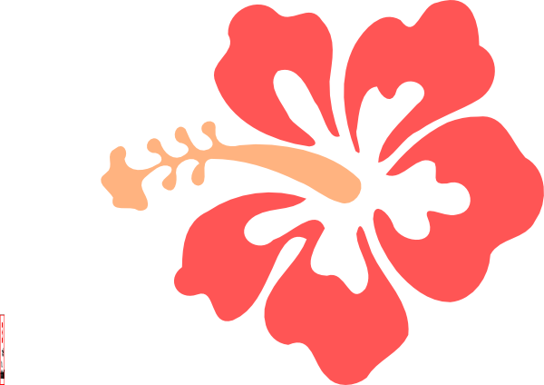 hibiscus flower clip art at clker  vector clip art online, Beautiful flower