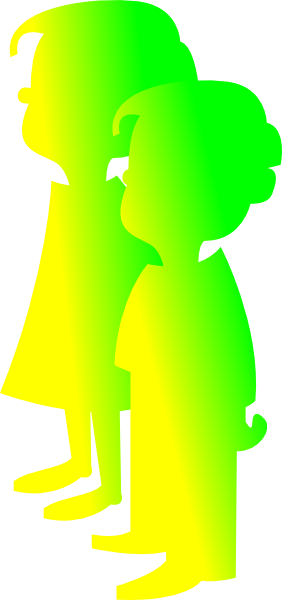 clip art girl and boy. Figures Boy And Girl