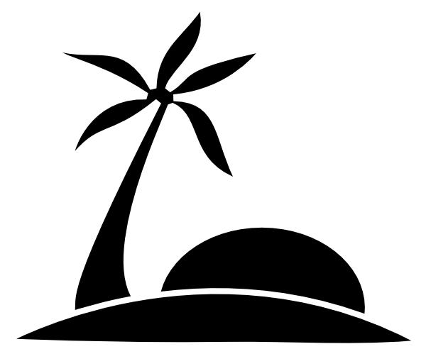 palm tree beach w sun clip art at clker com vector clip art online rh clker com Beach Clip Art Black and White Island Clip Art Black and White