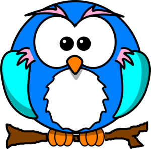 Cute Owl On Branchs Clip Art